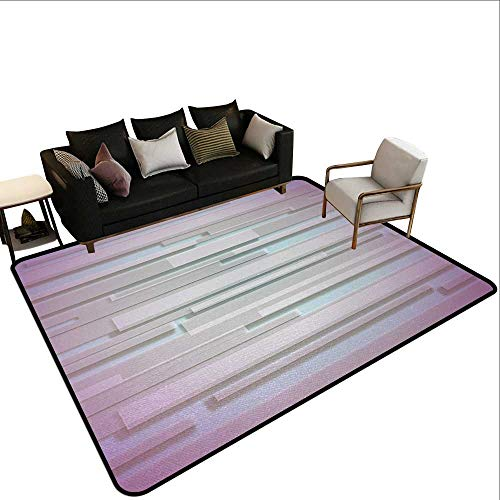 - Bathroom mats and Rugs Minimalist,Trippy Shaped and Unusual Figures with Vivid Visual Effects Art Image,Dried Rose Lilac,for Living Room Bedrooms Kids Nursery Home Decor 5'x 7'