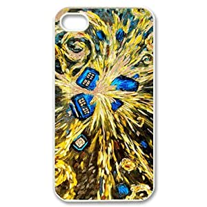 Fashion Style Doctor Who Van Gogh's Exploding Tardis Hard Case Cover for iPhone 4 4S