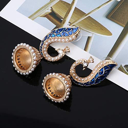 Kofun Earrings Retro Indian Bollywood Kundan Jhumka Jhumki Drop Earrings Gypsy Fashion Jewelry