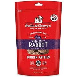 Stella & Chewy's Freeze-Dried Raw Absolutely Rabbit Dinner Patties Grain-Free Dog Food, 14 oz bag