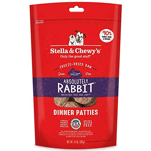 Stella & Chewy's Freeze-Dried Raw Absolutely Rabbit Dinner Patties Dog Food, 15 oz.