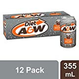 Diet A&W Root Beer 355mL Cans, 12 Pack