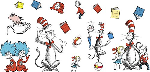 Dr Seuss Hats For Sale (Eureka Dr. Seuss's Cat in the Hat Large Characters Bulletin Board Set, 4 Panels 17 x 24