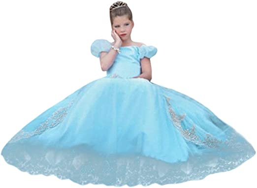 Girls Mesh Dresses Princess Fancy Dress Costumes Party Pageant Mesh Tutu Gown