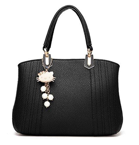 Bolso de hombro PU piel Bolso de mano Simple Retro Elegante Moda moderna Bolsa de cuerpo cruzada bolso señora mujeres