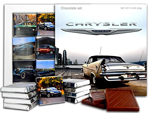 Da Chocolate Candy Souvenir Chrysler Chocolate Gift Set 5X5in 1 Box  Logo