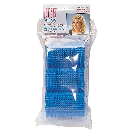 - Jet Set EZ Grip Curlers Blue