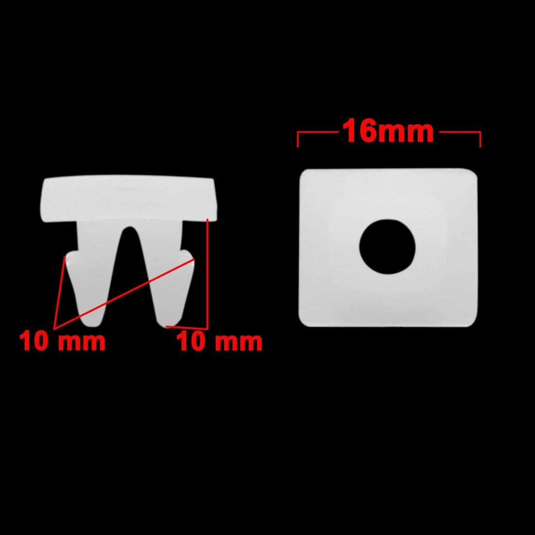 sourcing map 80Stk 10mm Loch Dmr Sto/ßf/änger Kunststoff Nieten Klammern Wei/ß f/ür Auto