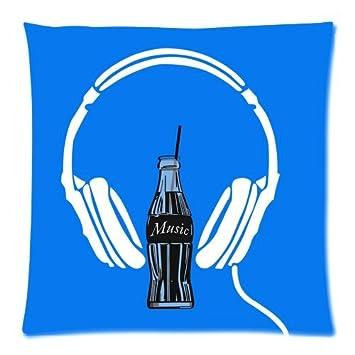 Amazon.com: Music Headset Custom Standard Throw Pillow ...