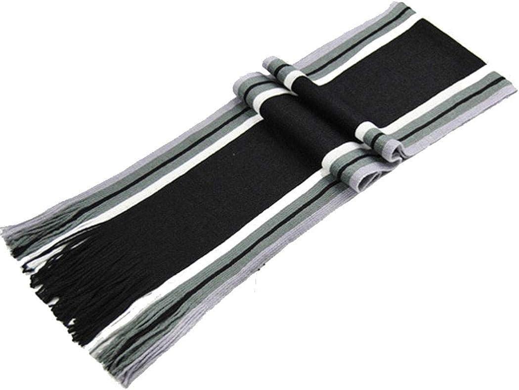 Etuoji Men Women Fashion Casual Stripe Print Artificial Wool Scarf Shawl Warm Scarves Cold Weather Scarves