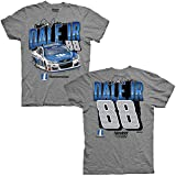 NASCAR Men's Chassis 2-Spot T-Shirt-Dale Earnhardt Jr. #88-Nationwide-Gray-Large