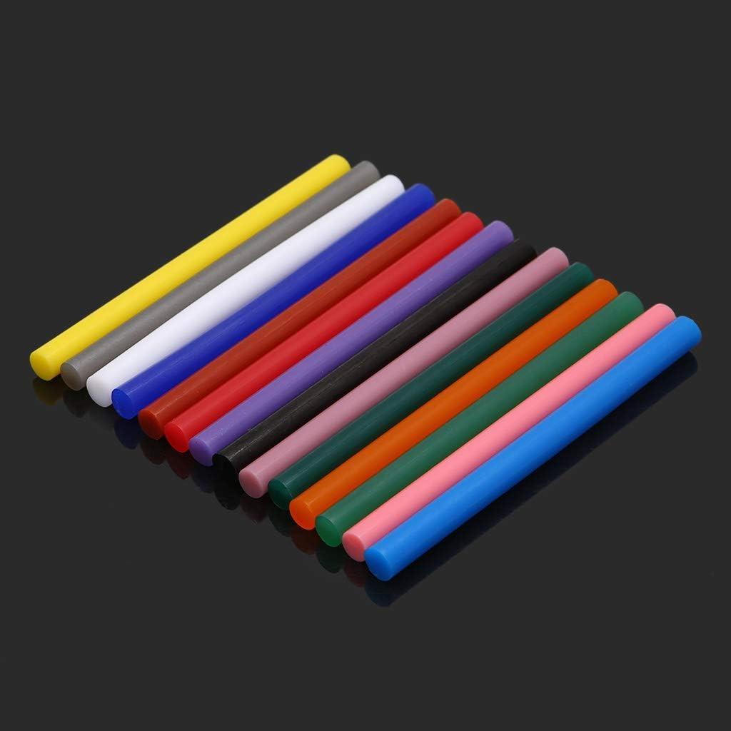 Guoyy 5 St/ück hei/ßkleber Sticks Schmelzklebstoff 7 x 100 mm DIY Handwerk Reparaturwerkzeug Elektrische Klebepistole Bunt Dunkelgr/ün