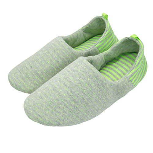 bestfur Women's Shoes Green House Slippers Cotton Breathable Waterproof Comfortable Yoga rrwdPxC8