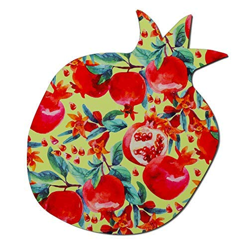 Gift Pomegranate - Barbara Shaw Gifts Decorative Pomegranate shaped trivet Hot Plate Original Israeli Gifts Hand Made in Jerusalem Decorative table center piece Wood Composite Beautiful addition to the table,