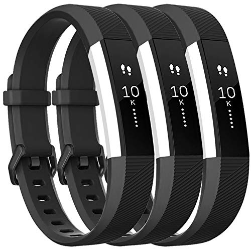 Vancle Bands Compatible with Fitbit Alta HR and Fitbit Alta, Newest Sport Wristbands with Secure Metal Buckle for Fitbit Alta HR/Fitbit Alta