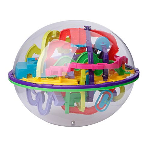 Kocome 299 Barriers 3D Magic Intellect Ball Balance Maze Game Puzzle Globe Toy Kid Gift ()