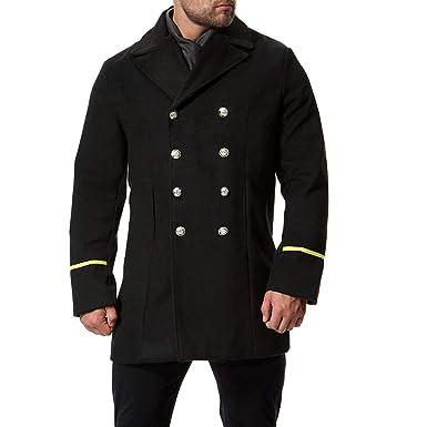 In Zweireiher Herren Militärischem Fit Aowofs Winter Regular Wintermantel Kurz Stil Mantel vmNny0wO8P