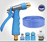ZLJTYN Car Wash Water Grab High Pressure Water Gun Flower Watering Artifact Car Sprinkler Head Brush Tool Hose Hose Family Suit,15 Meters