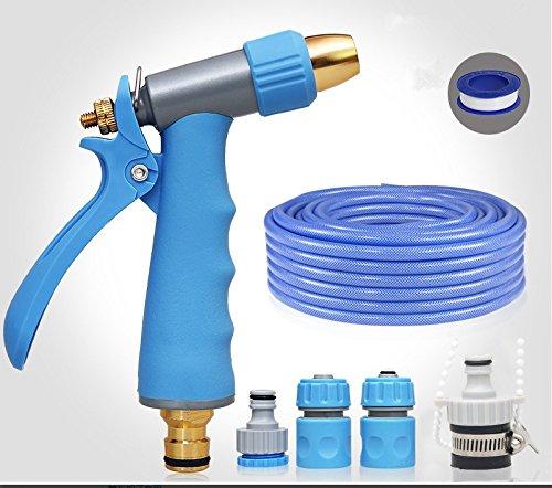 ZLJTYN Car Wash Water Grab High Pressure Water Gun Flower Watering Artifact Car Sprinkler Head Brush Tool Hose Hose Family Suit,10 Meters by ZLJTYN