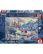 Schmidt - SCH-59671 - Disney Beauty and the Beast, 1000 stukjes Puzzel - vanaf 12 jaar - disney puzzel - van Thomas Kinkade