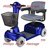 CTM - HS-360 - Mid-Range Travel Scooter - 4-Wheel - Blue - PHILLIPS POWER PACKAGE TM - TO $500 VALUE