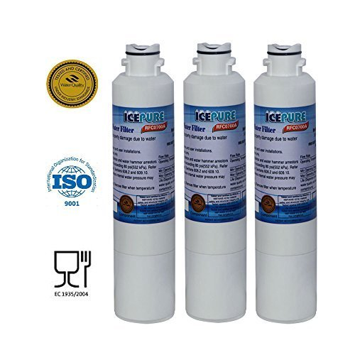 3-Pack IcePure Water Filter to Replace Samsung, Kenmore, Sears (Kenmore French Door Refrigerator compare prices)
