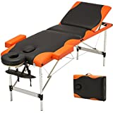 Aluminum 3 Fold Portable Massage Table Facial SPA Bed Tattoo w/Free Carry Case + FREE E-Book
