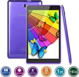 KOCASO MX810 8 INCH Android 6.0 A7 Quad-Core HD Tablet PC- 16GB Memory W/Expandable Memory, 1280x800, Dual Camera, Wireless/3G Dongle/Wi-Fi/Micro SD Card Slot/Micro USB/FREE ACCESSORIES- Purple