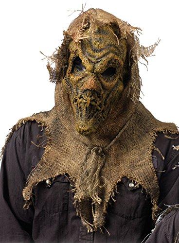 The Scarecrow Batman Halloween Costume (Batman The Scarecrow Burlap Mask Costume Accessory Adult One Size Natural)