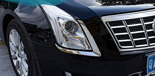 Eppar New Front Headlight Eyelids for Cadillac XTS 2013-2016