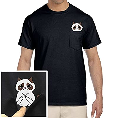 AZ Vinyl Works F-You Funny Grump Cat In Your Pocket Middle Finger Tee Shirt