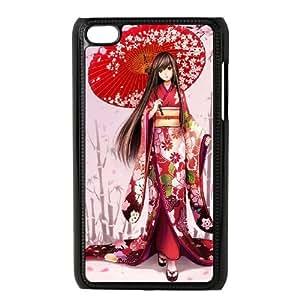 anime Geisha iPod Touch 4 Case Black Ocuaq