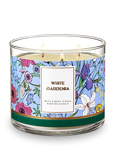 - Bath and Body Works 3 Wick Scented Candle White Gardenia 14.5 Ounce