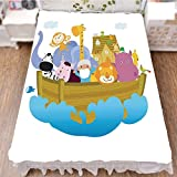 iPrint Bed Skirt Dust Ruffle Bed Wrap 3D Print,Ark with Set of Animals in The Boat Journey Faith,Best Modern Style Bed Skirt for Men and Women by 94.5''x102.3''