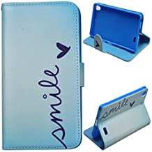 Voguecase® For BLU Vivo Air,Slim Fit PU Leather Case Cover with Stand (mile) & Card Slots with Free Universal Screen-stylus