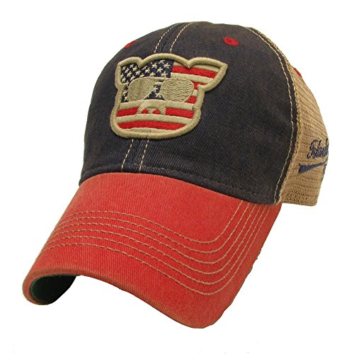 Islanders Pig Face Old Favorite Trucker Hat, American Flag, OS (Pig Face)