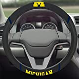 Fanmats NCAA University of Michigan Steering Wheel Cover 15''x15''