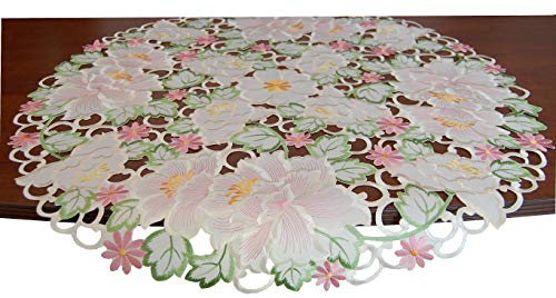 EcoSol Designs Embroidered Flowery Table Runner (34