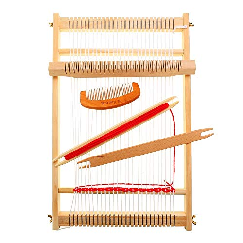 Weaving Loom Kit Wooden Warp Loom Frame 15.711.81.4 inches Hand Knitting Loom Tapestry Hand-Knitted Machine DIY Woven Set