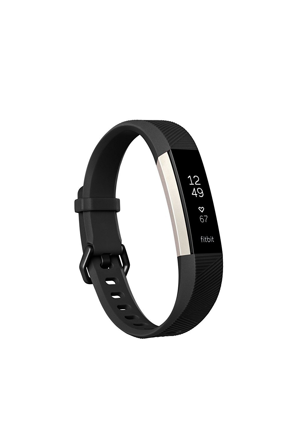 Fitbit Alta HR Activity Tracker, Large, Black FB408SBKL (Certified Refurbished) by Fitbit (Image #1)