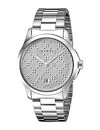 Gucci Men's G-Timeless Medium 38mm - YA126459 Silver