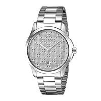 Gucci Swiss Quartz Stainless Steel Dress Silver-Toned Men's Watch(Model: YA126459)