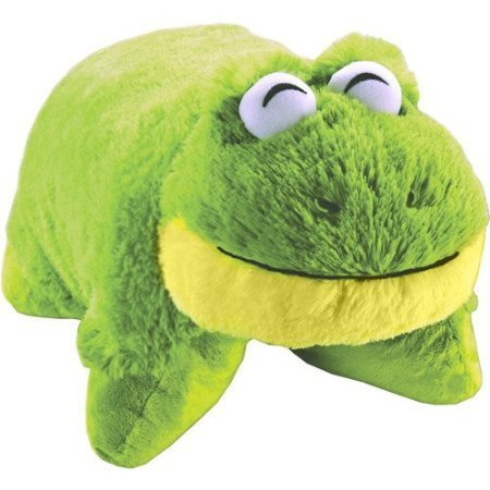 Pillow Pets Pee Wees Friendly Frog 11 Comfy Cozy Chenille Smile (Green) - As Seen ON TV