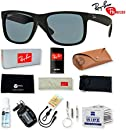 Ray-Ban RB4165 Justin Sunglasses with Deluxe Eyewear Accessories Bundle