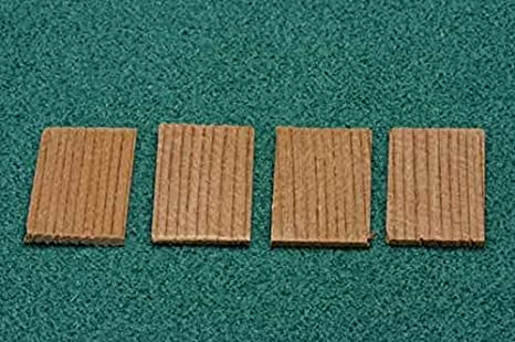 Dollhouse Miniature Cedar Rectangle Shingles 140 pack
