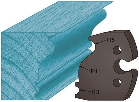 Diamwood Platinum 48 x 5,3 mm moulure Louis XVI A247 pour porte-outils de toupie Jeu de 2 contre-fers profil/és Ht Diamwood Platinum