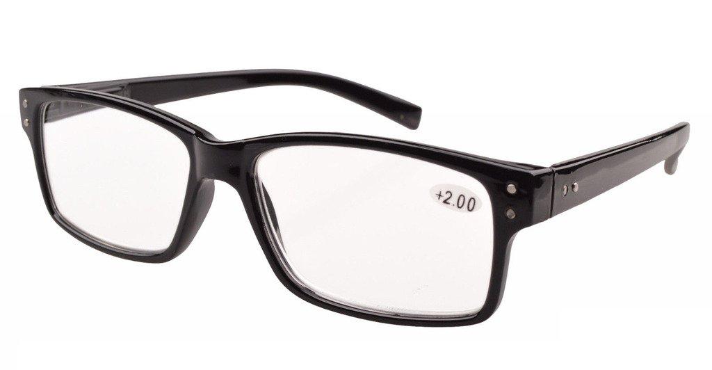 60bde0ae00c3 Eyekepper Spring Hinges Vintage Reading Glasses Men Readers Black +3.5