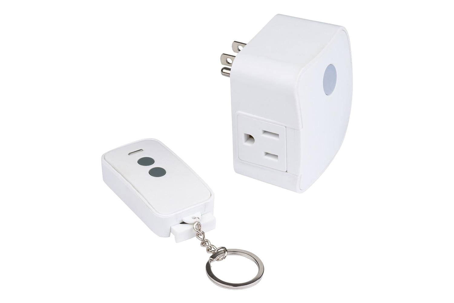 WESTEK Wireless Remote-Control Receiver Fob with Plug-In Receiver - Control Indoor Devices Wirelessly - Ideal For Lamps, Stereos and Household Appliances - Signal Works Up To 100 Feet Away