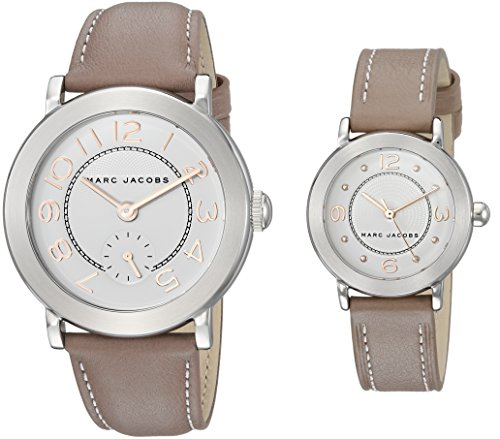 Marc Jacobs Women's 'Riley' Quartz Stainless Steel and Leather Casual Watch, Color:Brown (Model: MJ9728)