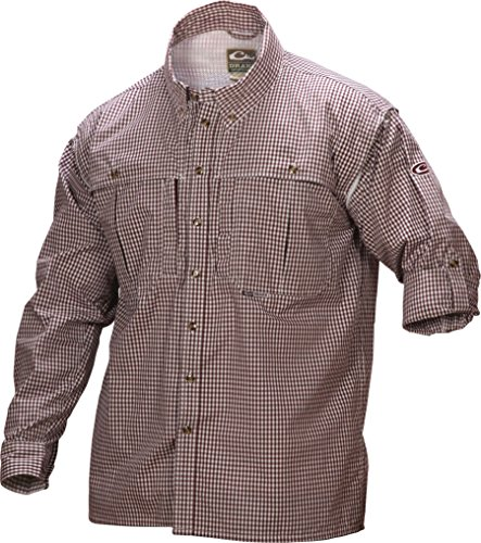 Drake Men's Long Sleeve Wingshooter's Gingham Game Day Shirt (Large, ()